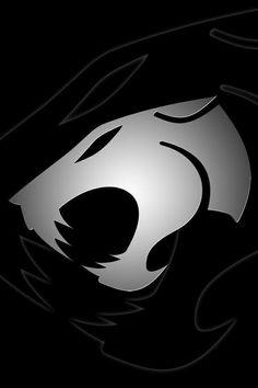 Black and white Thundercats logo Black Wallpaper For Mobile, Lion Wallpaper, Apple Logo Wallpaper Iphone, Iphone Wallpapers, Hd Desktop, Thundercats Logo, Bad Cats, Star Wars Art, Anime Comics