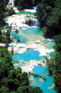 Turquoise Waterfalls, Chiapas, Mexico - Tapachula Chiapas