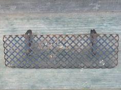 shabby cottage chic VINTAGE METAL SHELF metal by COTTAGEGOLD, $18.00
