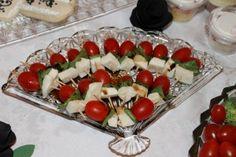 Easy Appetizer:  Tomato + Basil + Mozzarella