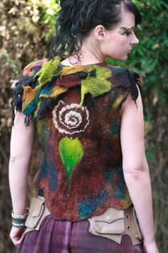 Fairy felted vest on Etsy