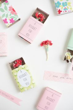 Make a Matchbox Bouquet for Mother's Day #DIY #giftideas