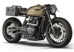The Bullitt: Triumph desert-sled doomsday concepts by Ziggy Moto