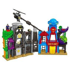 Fisher Price Imaginext DC Super Friends Hero Flight City Playset Batman Superman