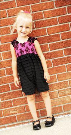 fairytale frocks and lollipops::create kids couture, bella's ruffle fabric romper, e-pattern, downloadable pattern, pdf pattern