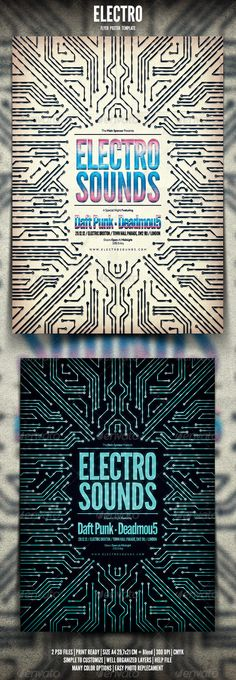 Electro Flyer / Poster  #GraphicRiver          Electro Flyer / Poster Promote any kind of music event. Trance, Electro, Concert, Festival, Party or weekly event in a music club and other kind of special evenings. Help File included.    1 psd File  Print Ready  A4 29,7×21 CM + bleed  300 dpi  CMYK  Well Organized Layers  Professional & clean design  Easy to use  Help File                                                                                                                     More…