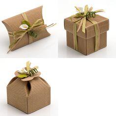 Kraft Wedding Favour Boxes (Pk 10) - choice of shapes