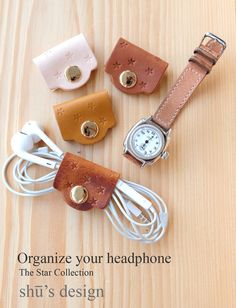 Leather Headphone cable / Leather headphone por ShuLeatherWorks