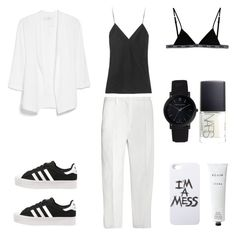 """Minimal Suit"" by fashionlandscape ❤ liked on Polyvore featuring mode, Maison Margiela, Replay, Larsson & Jennings, MANGO, adidas Originals, LAUREN MOSHI, T By Alexander Wang, Rodin Olio Lusso en NARS Cosmetics"