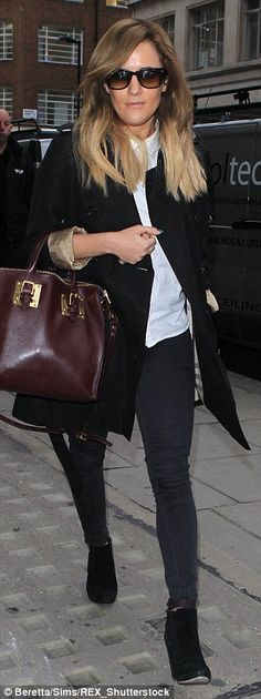 X Factor host Caroline Flack dons a super-tight pair of skinnies...