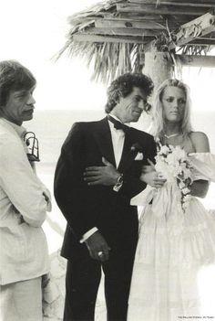Patti Hansen, Keith Richards with Mick Jagger