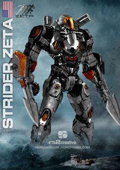 jaeger concept art | Strider Zeta Custom Jaeger Request by rs2studios