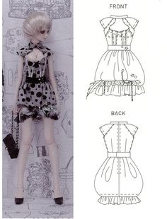 SD size Bubble Dress 1/3 BJD Sewing Pattern PDF. $6.90, via Etsy.