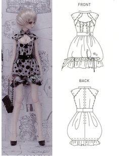SD size Bubble Dress 1/3 BJD Sewing Pattern PDF. $6.90, via Etsy.
