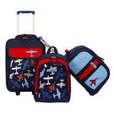 Amazon.com : 3-piece Kids Luggage Sets Blue for Boys - Carry-on ...