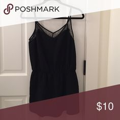 Forever 21 Black Sleeveless Romper Size medium. Very cute/lacey romper. Only worn once! Forever 21 Pants Jumpsuits & Rompers