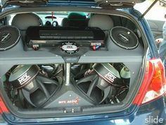 he must have a subscription by the car window company. Custom Subwoofer Box, Subwoofer Box Design, Speaker Box Design, Fi Car Audio, Custom Car Audio, Custom Cars, Ford Gt, Donk Cars, Car Audio Installation