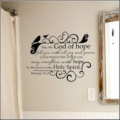 Romans 15:13 Bible Verse Wall Decal - A Great Impression