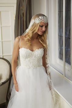 ISLA gown & ISADORA mantilla veil