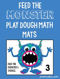 These monster play dough math mats will fit right in with your Halloween activities. I like this fuzzy,non-scary, kid-friendly monster — so cute!  To make the mats, print them out and either laminate them or slip them into page protectors. I always use page protectors and bind them together with metal binder rings so …