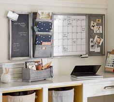 Pottery Barn Galvanized System White Board Calendar