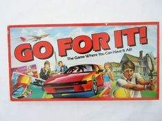 Vintage 1985 GO FOR IT Board Game by Parker - COMPLETE & VGC ✿✿