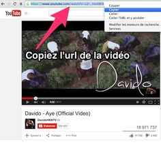 Copiez l'url de la vidéo youtube Transformer Videos, Mac Ipad, Netflix Codes, Clip, Eh Bien, Microsoft Excel, Music Videos, Internet, Guide