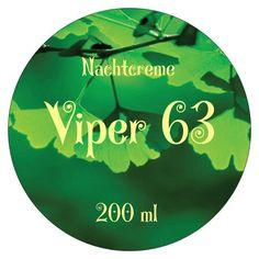 Viper 63 Nachtcreme, Hyaluroncreme Gingko, gegen Falten, parfumiert