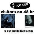 Help me Reach the Goal of two million in 48hrs. at my Webpage www.SunKu.Webs.com  Sun Ku Writer