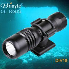 Brinyte DIV18 200M Underwater Lamp Led Dive Light CREE XML2 650lm LED Scuba Diving Torch Dive Mask Flashlight