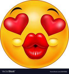 Emoticon Kiss Emoji Vector Images (over Smiley Emoji, Emoticon Faces, Funny Emoji Faces, Silly Faces, Animated Emoticons, Funny Emoticons, Emoticons Text, Love Smiley, Emoji Love