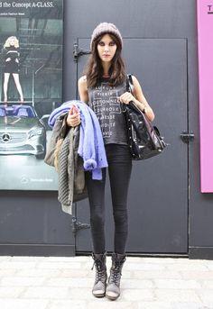 Street style: LFW day one. Amanda Hendrick - Scotland - Model @ Select  (walked in Bora Aksu)