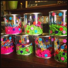 Personalized Paint Bucket Party Favors