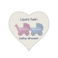 pink and blue baby buggy stickers