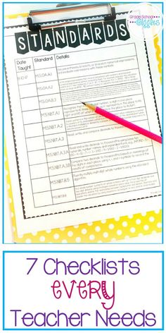 Using checklists effectively can be a key part of being organized. That's why every teacher needs these 10 checklists.