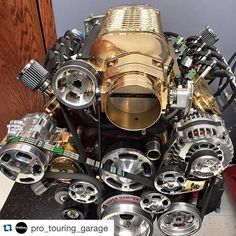 """@fast_chevys on Instagram: """"#fast_chevys @pro_touring_garage ・・・ So she wanted a gold ring & we negotiated on a gold @whipplesuperchargers instead.  #winning…"""""""