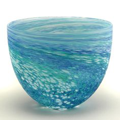 Ocean Bowl - Visit www.malcolm-sutcliffe.co.uk for more details about this unique glass artwork made in the Malcolm Sutcliffe Studio, Cornwall.