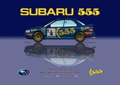 Print on Canvas Subaru Impreza 555 1995 McRae / Ringer WC Blue 80 x 60 Subaru Rally, Rally Car, Colin Mcrae, Jdm Wallpaper, Motorcycle Design, Jdm Cars, Subaru Impreza, Sexy Cars, Motors