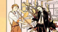"""""""When Fitzgerald isn't home"""" - Steinbeck & Lovecraft (By: BSD Rosinante - Ryou & Luka)"""