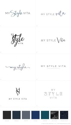 My Style Vita Initial Logo Concepts for Blog Design Project