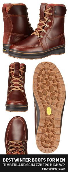 Best men's winter boots - Timberland Schazzberg High - See what other winter boots made the list for 2017 at http://www.findyourboots.com/best-mens-boots-for-winter-2017/
