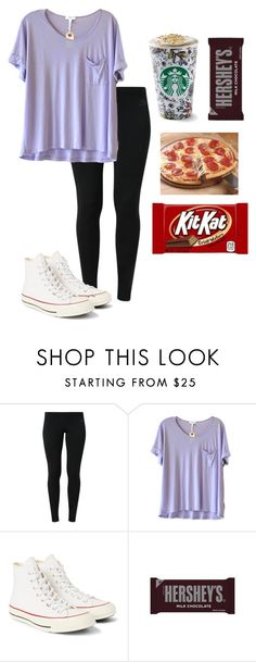 """This is what I want but can't have lol I'm always hungry "" by madelyn-abigail ❤ liked on Polyvore featuring NIKE, Clu, Converse, Hershey's, women's clothing, women's fashion, women, female, woman and misses"