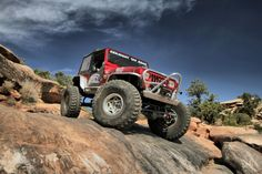 GenRight Red Jeep YJ! #jeep #jeeping #offroad #offroading #wheeling #desert #moab