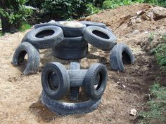 Playground Made Out of Tires | Our soon-to-come-to-life Turtle