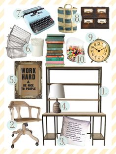 super small workspaces | the handmade home