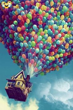 real fun - Happiness is there . a Nice wall paper picture #balloon #aerostat #story #childhood - Funomenia - Frases