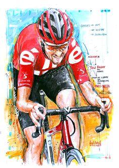 Tiesj Benoot, Team Sunweb, gewinnt die 6. Etappe der 78. Austragung von Paris Nizza 2020 (100x70cm) Cycling Art, Bike Art, Bicycle, Comic Books, Paris, Comics, Nice, Road Cycling, Bicycle Kick
