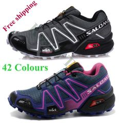 2014 New Arrival Zapatillas Salomonlied Speedcross 3 Solomon Shoes Men Women Walking Ourdoor Sport Athletic Shoes US $32.99