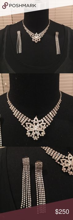 Crystal Jewelry Vintage necklace. Earnings are not vintage Jewelry