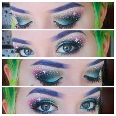Amazing galaxy makeup by Neon Creations!